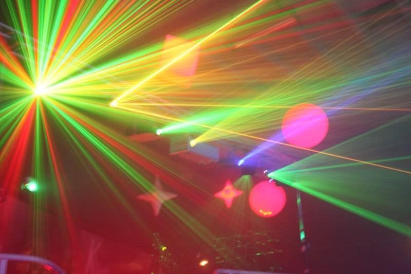 show laser pour événement extérieur au havre