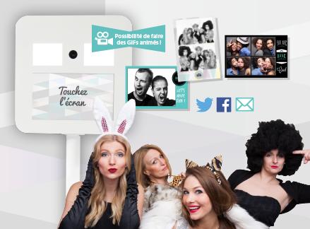 Borne photo à selfie - photobooth - photomaton