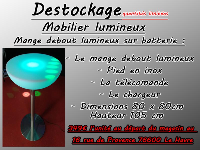 ou acheter des tables lumineuses au havre en Normandie près de Paris